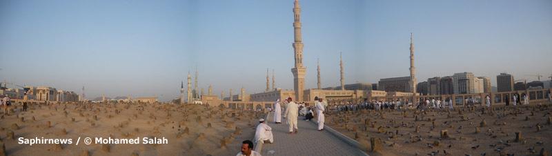 Mosquée du Prophète prise au cimetière Al-Baqi.