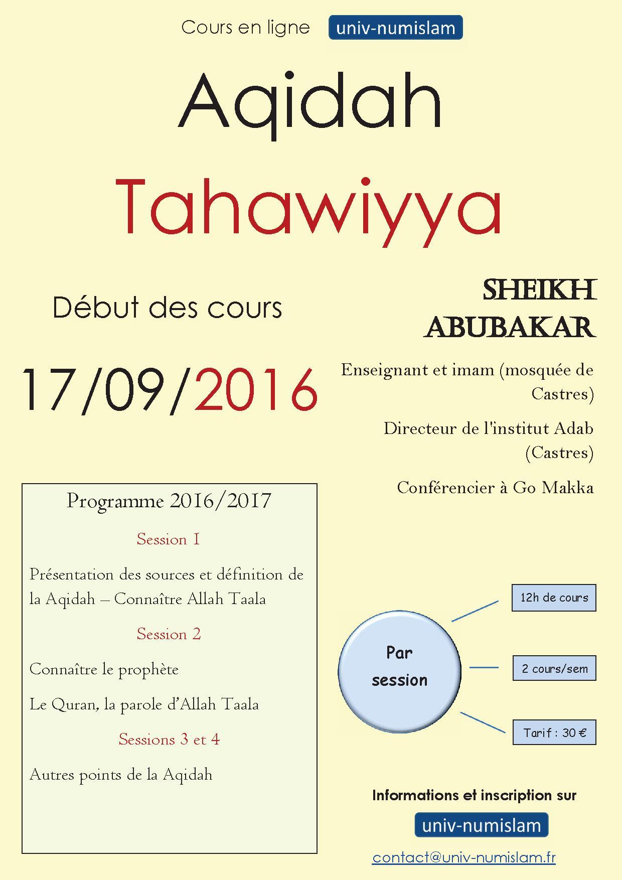 http://www.saphirnews.com/agenda/Aqidah-Tahawiyya-Cours-en-ligne-Module-1-sept-nov-2016_ae408887.html