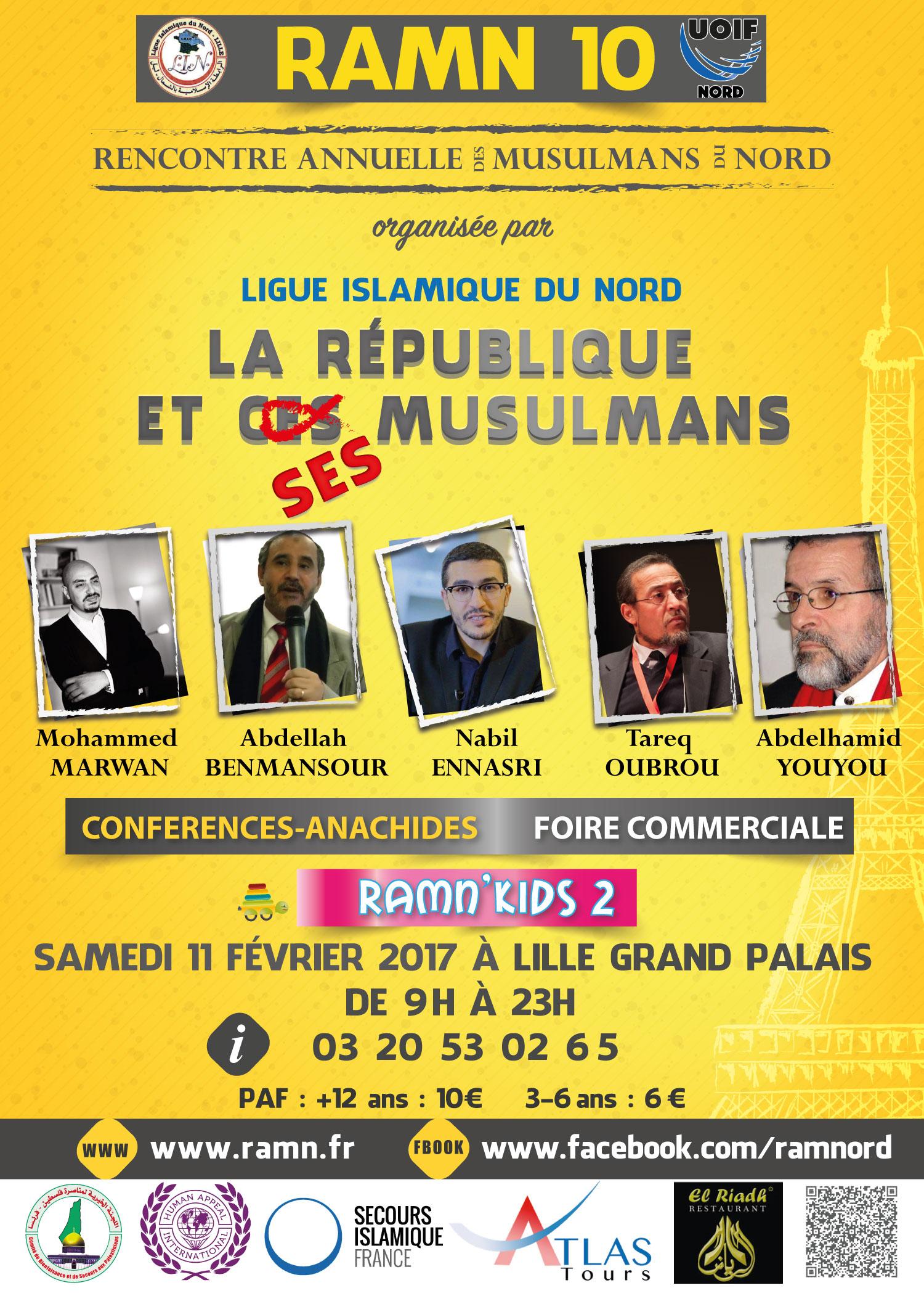 Rencontre annuelle des musulmans de france 2016 lille