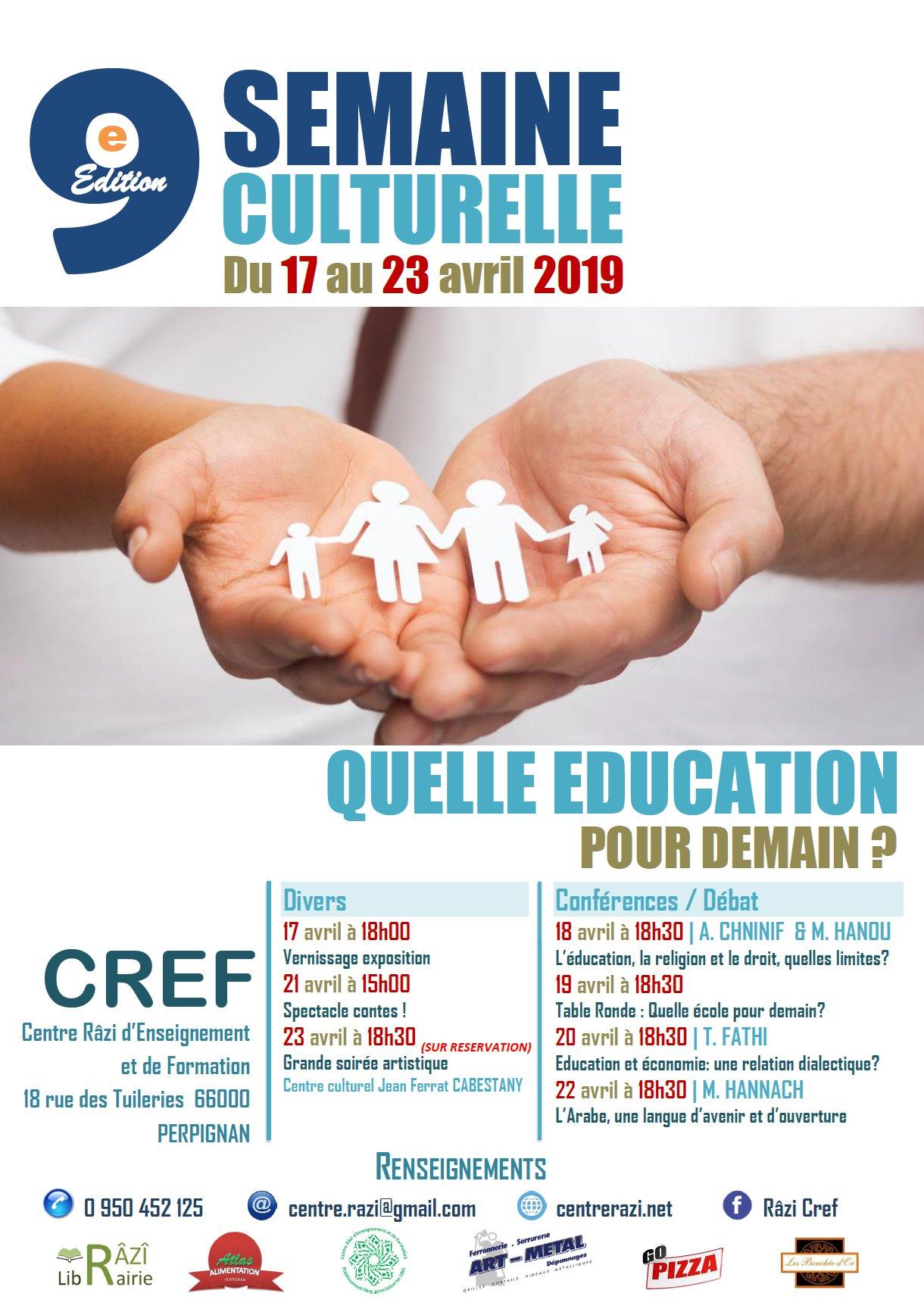 https://www.saphirnews.com/agenda/Semaine-culturelle-Quelle-education-pour-demain_ae648906.html