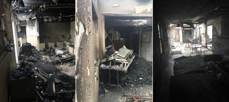 La mosquée de Fort Pierce a été ravagée la veille de l'Aïd al-Adha 2016 lors d'un incendie criminel. © Saphirnews.com