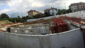 Le chantier de la mosquée d'Annecy.