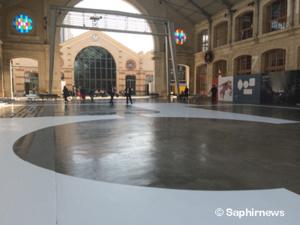 Jusqu'au 4 janvier 2017, House of One fait l'objet d'une double exposition : à la Solo Galerie (Paris 3e), où sont présentées des maquettes et des photos, et au CentQuatre (Paris 19e), où un marquage au sol à l'échelle réelle permet de se faire une idée de la circulation au sein du futur bâtiment interconvictionnel.