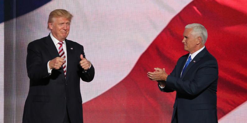 Donald Trump et son colistier Mike Pence.