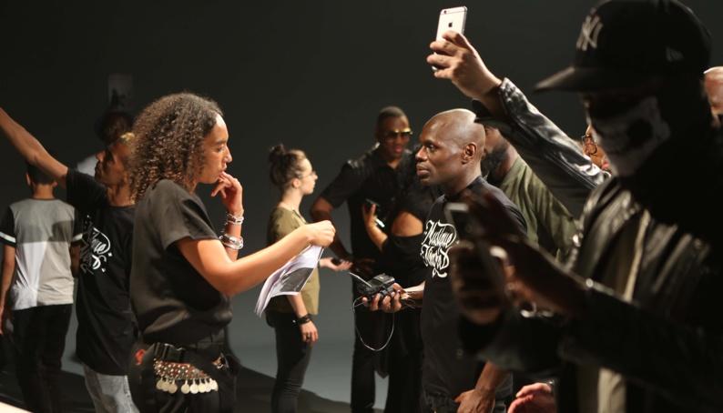 Leïla Sy face au rappeur Kery James.