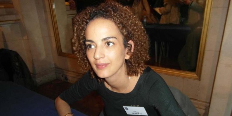 Leïla Slimani lors du Maghreb des livres 2015.