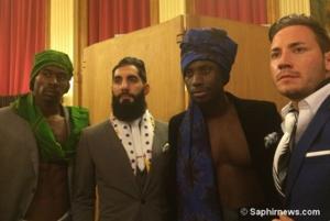 Des dandys chics au rendez-vous en leur qualité d'ambassadeurs masculins de My Foul'Art font aussi partie du défilé de mode, organisé jeudi 10 novembre. © Saphirnews.com