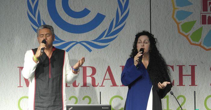 A Marrakech, le 10 novembre pour la remise officielle de la Déclaration interconfessionnelle dans le cadre de la COP22. © Green Faith