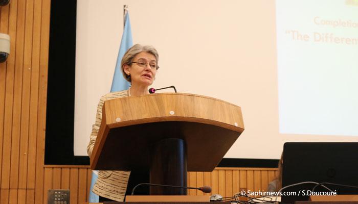 Irina Bokova, directrice générale de l'Unesco. © Saphirnews.com