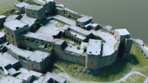 Le Krak des chevaliers, situé dans l'ouest de la Syrie, est un château fort datant de l'époque des croisades (photo © Iconem / DGAM)