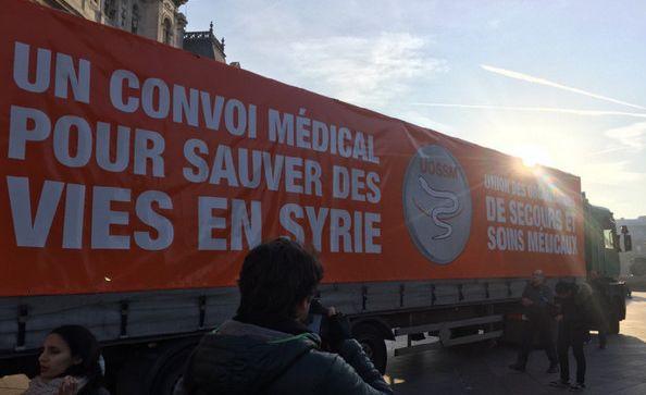 Un convoi humanitaire en partance pour la Syrie est parti jeudi 15 décembre depuis Paris.