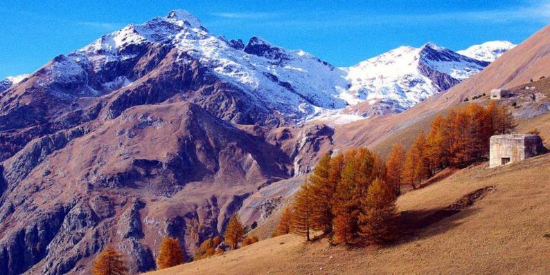 La vallée de la Roya (Alpes-Maritimes).