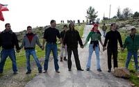 Manifestation, en février 2008, marquant trois années de lutte contre le mur à Bil'in en Palestine, photo de Keren Manor