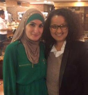Linda Sarsour et Samia Hathroubi.