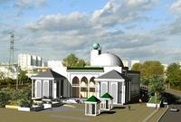 La mosquée de Tours sort de terre.