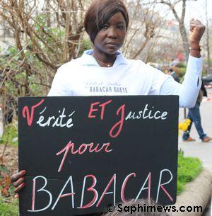 Hawa Gueye, soeur de Babacar Gueye, tué en décembre 2015 à Rennes.