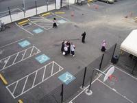 Parking et terrain de basket-ball font partie de la mosquée Al-Aqsa (Philadelphie, Etats-Unis).