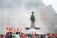 Manifestation à Bordeaux le 22 mai 2008, dernière journée unitaire d'action interprofessionnelle.