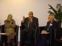 De gauche à droite : Malika Dif, marraine du Centenaire Hamidullah ; Saâd Chettouh ; Bernard Pouclet.