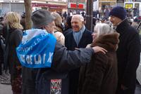 Stéphane Hessel à la manifestation de Paris du 03/01/2009