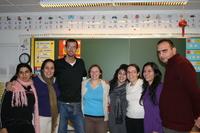 Jeunes Israéliens et Palestiniens (Miriam et Yaël tout à gauche, Omer tout à droite)