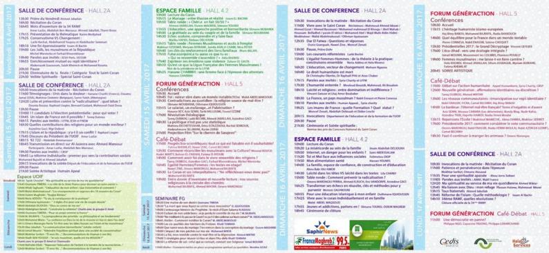 RAMF 2017 : le programme de la rencontre de l'UOIF au Bourget