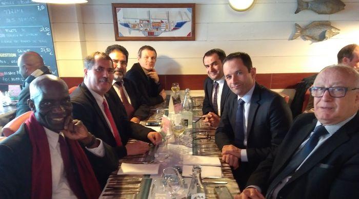 Benoît Hamon à la rencontre, jeudi 13 avril, d'une délégation du CFCM dans le cadre de l'élection présidentielle.