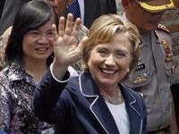 La secrétaire d'Etat américaine Hillary Clinton, le 18 février 2009 à Jakarta