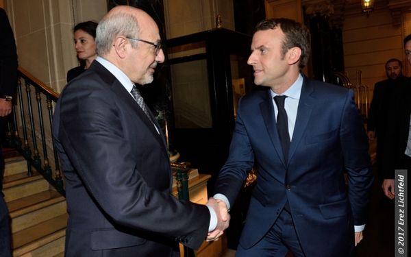 Emmanuel Macron a été reçu le 22 mars par le président du CRIF Francis Khalidfat (ici à l'image) lors d'une soirée des amis du CRIF.