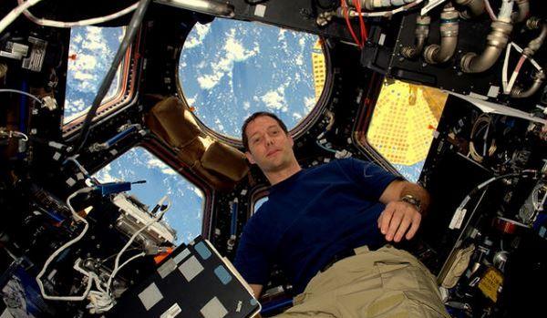 Thomas Pesquet depuis la station spatiale internationale dans l'espace. © ESA/NASA