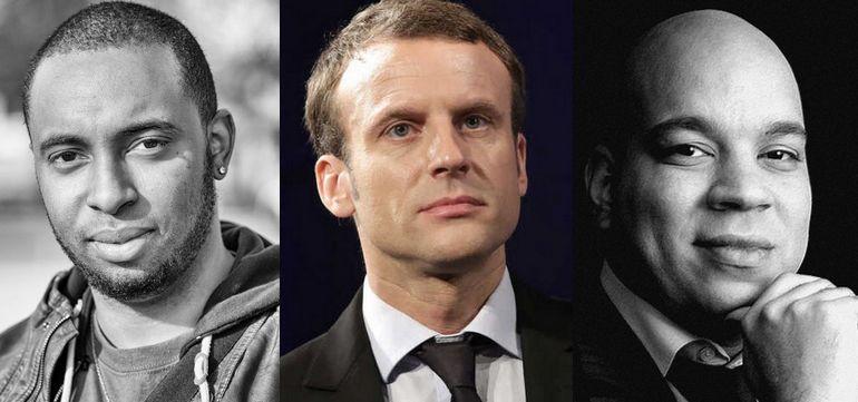 Quelle politique promet Macron pour les banlieues ? Kévin-Victoire Boucaud (à gauche) et Réda Didi, fondateur du think thank Graines de France.