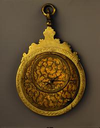Astrolabe planisphérique, instrument utilisé pour mesurer la hauteur des astres au-dessus de l'horizon.