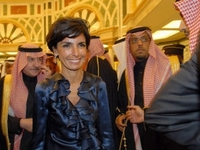Rachida Dati en déplacement dans les pays du Golfe en janvier 2008 (Sipa).