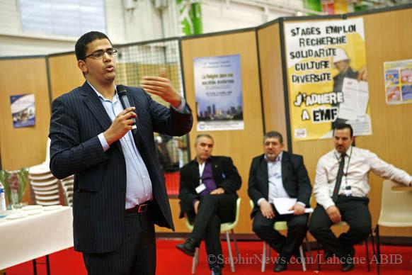 L'actuel président de l'EMF, Khalil Ould El Mounir, en présence de trois de ses prédécesseurs.