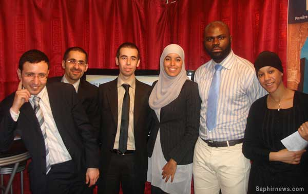Élèves de la première promotion de finance islamique au salon du Bourget