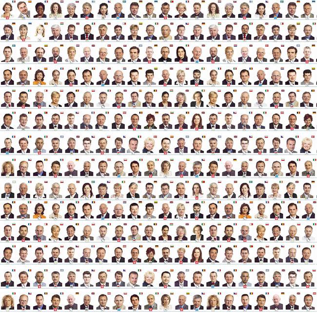 Voici quelques-uns des députés 2004 : par manque de « diversité », le Parlement européen ne devrait pas changer pas de visage à l'issue du scrutin de juin 2009.