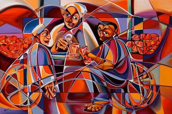 « Jus d'orange », œuvre du peintre marocain Abdelaziz Haounati. (photo © D. R.)