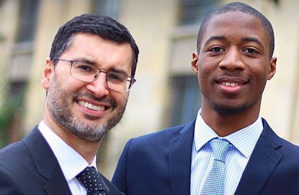 Samy Debah, avec son suppléant Sibiry Konaté à l'image, candidat à la 8e circonscription du Val d'Oise.