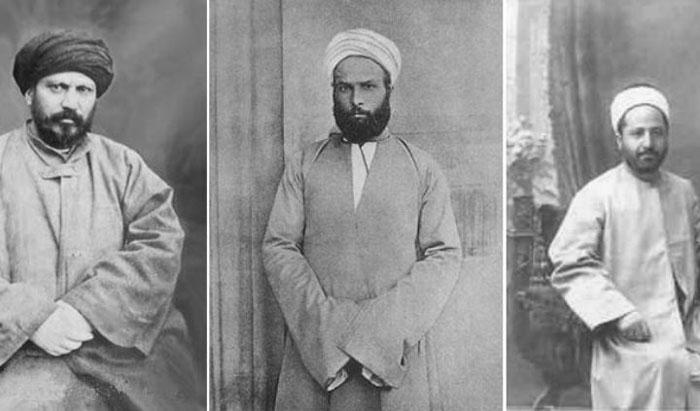 De g. à  dr. : Jamâl ad-Dîn al-Afghânî ; Muhammad 'Abduh ; Rachîd Ridâ.