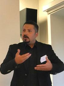 Onur Unutulmaz (université d'Ankara) a présenté les premières observations de la recherche sur le Royaume-Uni menée dans le cadre du Global Muslim Diaspora (GMD) Project. © Religioscope