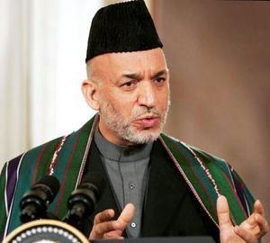 Le président sortant Hamid Karzaï, élu en 2004, brigue un second mandat. (© D. R.)