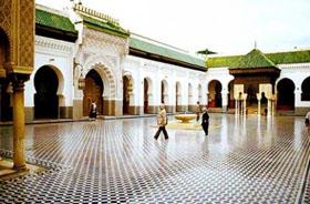 Cour intérieure de la mosquée de Cordoue.