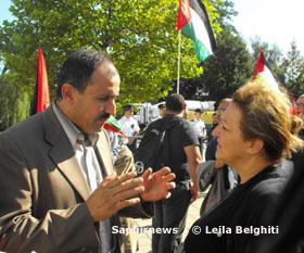 Le Dr Mohammed Salem et la sénatrice Alima Boumédiene-Thiery font partie de la délégation.
