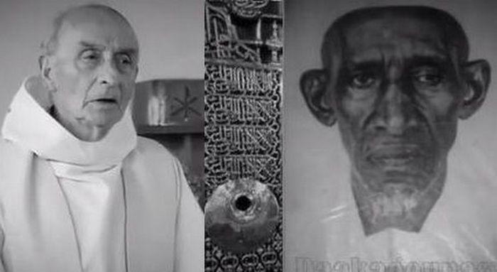 Thierno Dia a composé un titre hommage au Père Jacques Hamel et à son père (à gauche), agressé au lendemain de l'attentat à Saint-Etienne-du-Rouvray.