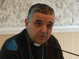 Mgr Dominique Lebrun, archevêque de Rouen.