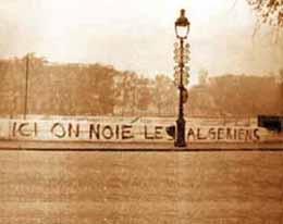 Il y a 48 ans, les massacres du 17 octobre 1961 à Paris : la Seine aussi témoignera…