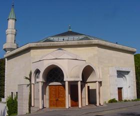 La mosquée de Genève possède un des quatre minarets de Suisse.