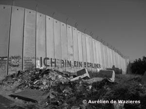 Mur de séparation entre la Palestine et Israël, à Bethléem.