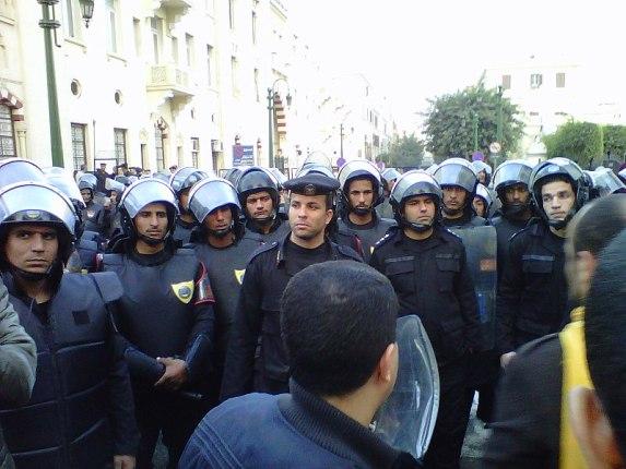 Manifestation au Caire, le 25 janvier 2011