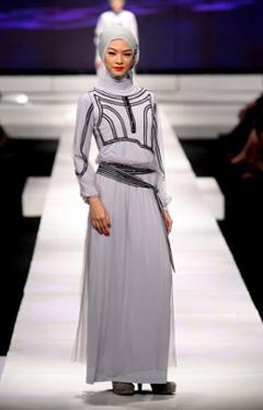 Défilé de mode muslim à Jakarta
